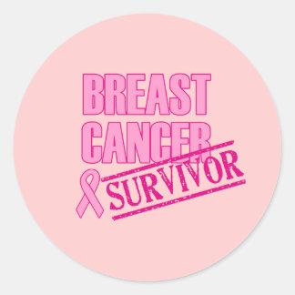 Breast Cancer Survivor Button Classic Round Sticker