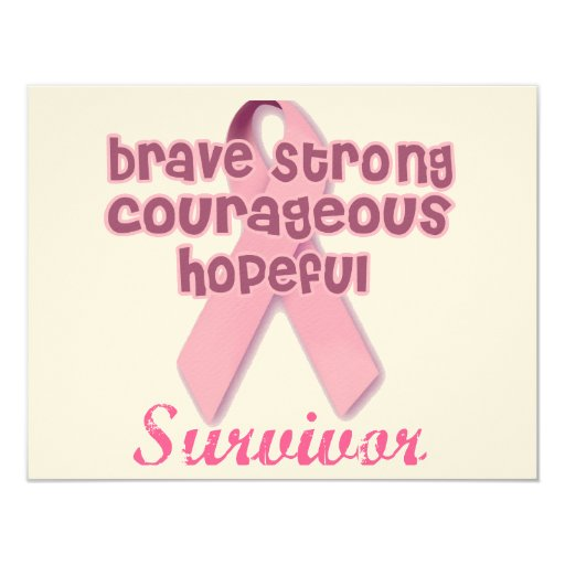 Breast Cancer Survivor Card