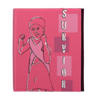 Breast cancer survivor iPad folio case