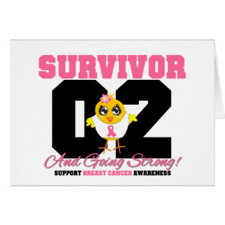 Breast Cancer Survivor Chick 02 Years Cards