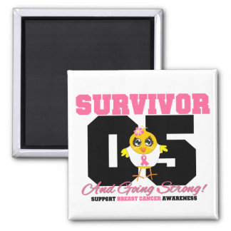 Breast Cancer Survivor Chick 05 Years Fridge Magnets