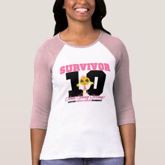 Breast Cancer Survivor Chick 10 Years T-Shirt