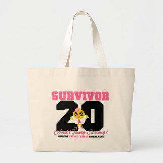 Breast Cancer Survivor Chick 20 Years Tote Bags
