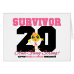 Breast Cancer Survivor Chick 20 Years Greeting Card
