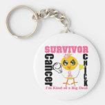 Breast Cancer Survivor Chick Ribbon Key Chain