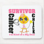 Breast Cancer Survivor Chick Ribbon Mouse Pad
