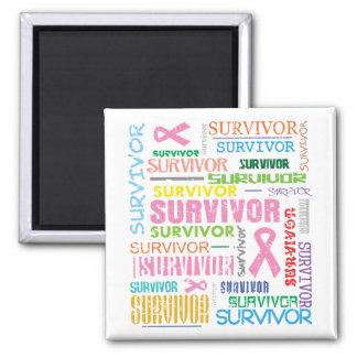 Breast Cancer Survivor Collage.png Fridge Magnets