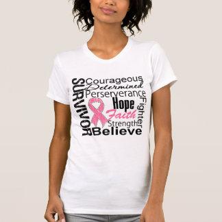 Breast Cancer Survivor Collage Tee Shirts