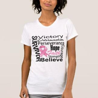 Breast Cancer Survivor Collage T Shirt