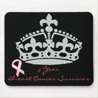 Breast Cancer Survivor - Diamond Princess Crown Mouse Pad