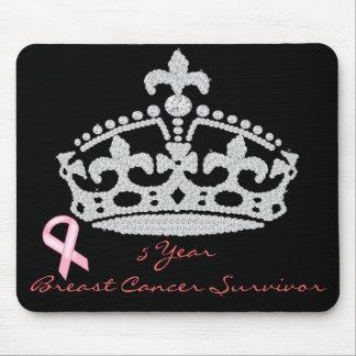 Breast Cancer Survivor - Diamond Princess Crown Mouse Pad