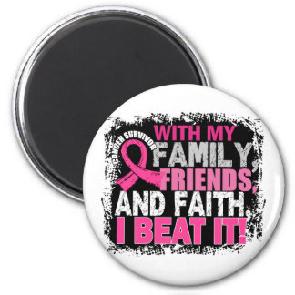Breast Cancer Survivor Family Friends Faith Magnet