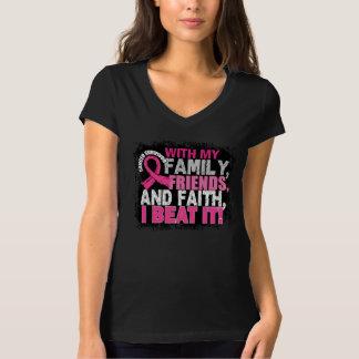 Breast Cancer Survivor Family Friends Faith T-Shirt