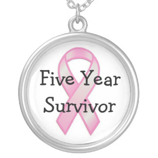 Breast Cancer Survivor Five Years Necklace