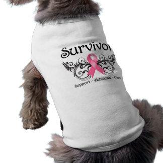 Breast Cancer Survivor Floral Deco T-Shirt