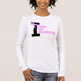 Breast Cancer Survivor fought won Long Sleeve T-Shirt