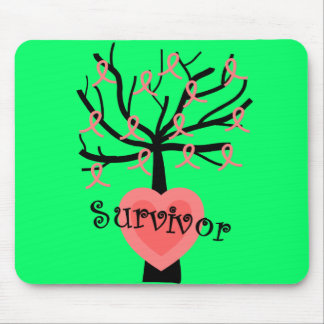 Breast Cancer Survivor Gifts--Unique Tree Design Mouse Pad