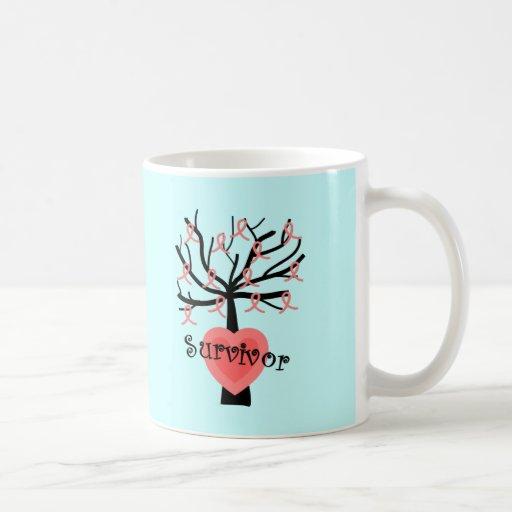 Breast Cancer Survivor Gifts--Unique Tree Design Classic White Coffee Mug