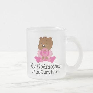 Breast Cancer Survivor Godmother Frosted Glass Coffee Mug