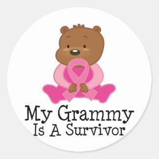 Breast Cancer Survivor Grammy Classic Round Sticker