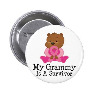 Breast Cancer Survivor Grammy Pinback Button