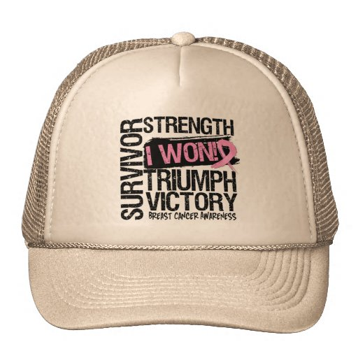 Breast Cancer Survivor I Won Hats
