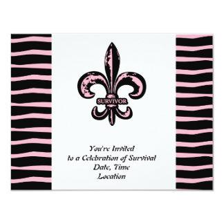 Breast Cancer Survivor 4.25x5.5 Paper Invitation Card