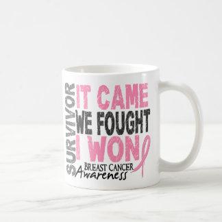 Breast Cancer Survivor It Came We Fought I Won Coffee Mug