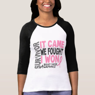 Breast Cancer Survivor It Came We Fought I Won T Shirts