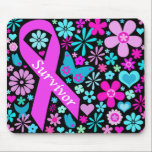 "Breast Cancer Survivor Mousepad<br><div class=""desc"">Shout it out with bold and bright color!</div>"