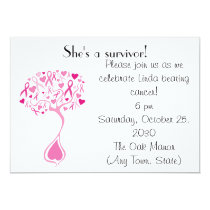 Breast Cancer Survivor Party/Fundraiser Invite