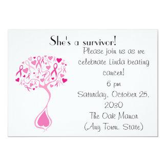 Breast Cancer Survivor Party/Fundraiser Invite