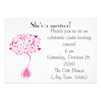 Breast Cancer Survivor Party Fundraiser Invite