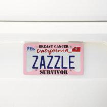 Breast Cancer Survivor Pink License Plate License Plate Frame