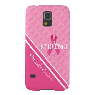 Breast Cancer Survivor | Pink Ribbon Custom Case Cases For Galaxy S5