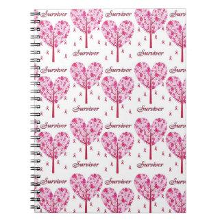 Breast Cancer Survivor Pink Ribbon Tree Gifts Journal