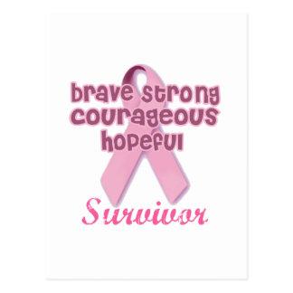 Breast Cancer Survivor Postcard