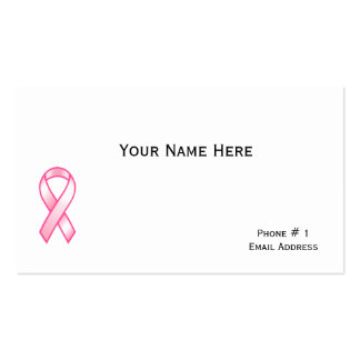 Breast Cancer Survivor Profile Card Double-Sided Standard Business Cards (Pack Of 100)