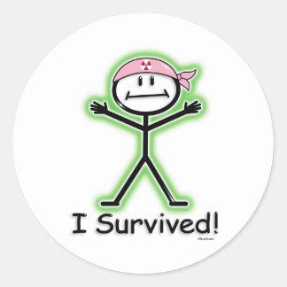 Breast Cancer Survivor Radiation Classic Round Sticker