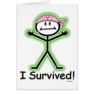 Breast Cancer Survivor Radiation Greeting Cards