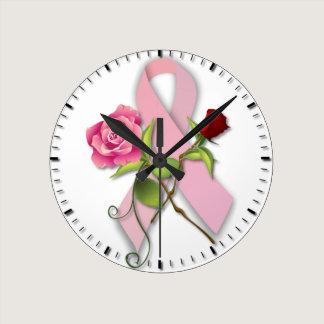 Breast Cancer Survivor Round Clock