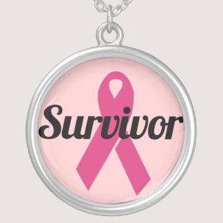 Breast Cancer Survivor Silver Plated Necklace