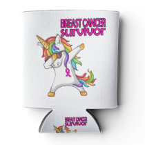 BREAST CANCER Survivor Stand-Fight-Win Can Cooler
