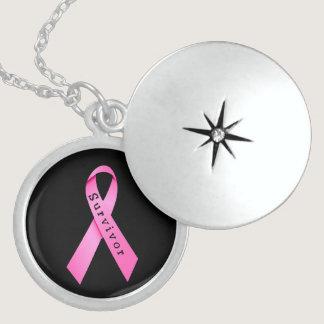 Breast Cancer Survivor Sterling Silver Locket