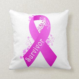 Breast Cancer Survivor Throw Pillow