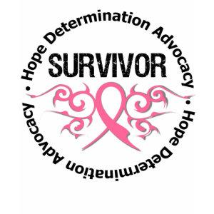 Breast Cancer Survivor Tribal Ribbon shirt