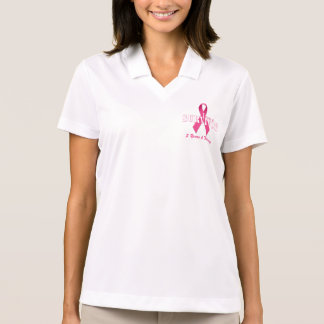 Breast Cancer Survivor with Pink Ribbon Polo Shirt