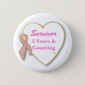 Breast Cancer Survivor-- Years & Counting Pinback Button