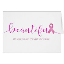 Breast Cancer Survivor You are Beautiful Card