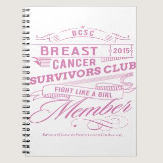 Breast Cancer Survivors Club Spiral Notebook